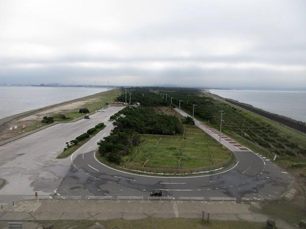 富津岬の展望台からの眺め