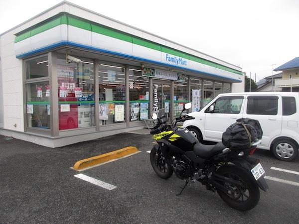 保田の「ファミリーマート」で小休止