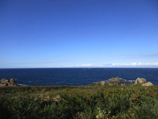 鮫角灯台前から見る太平洋
