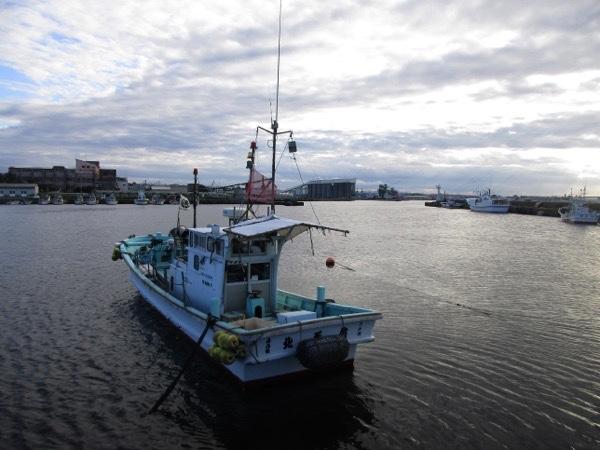 八戸漁港の漁船