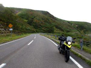 知床峠の峠道