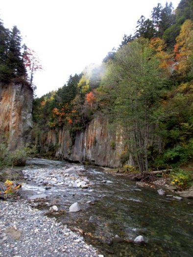 大函を流れる石狩川