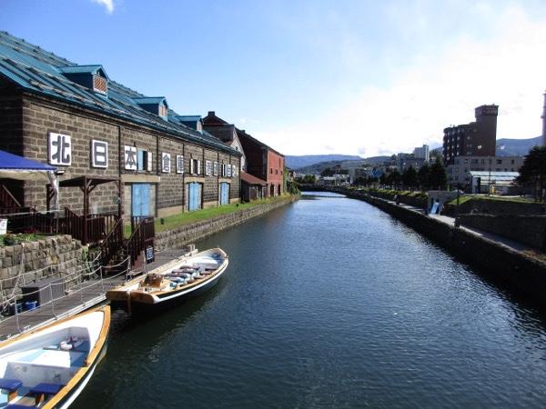 小樽運河を見る