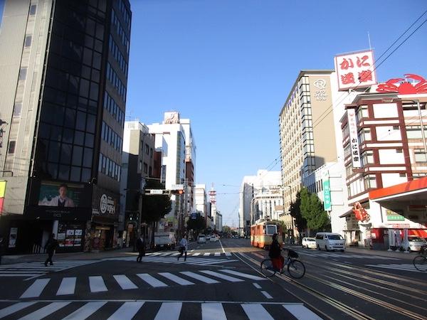 松山を出発