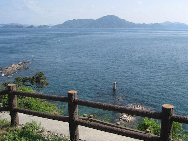 大角鼻から見る芸予諸島の島々