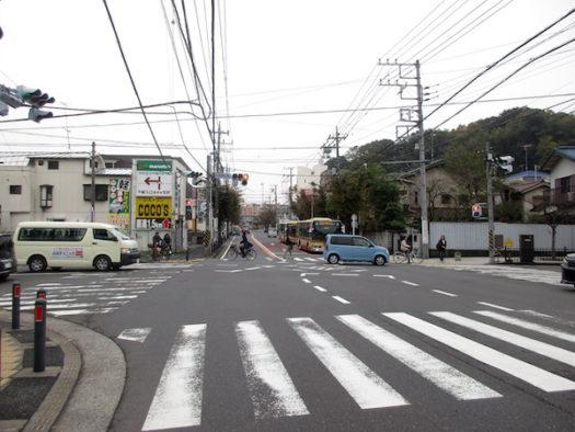 ここは戸塚宿の八坂神社前の交差点