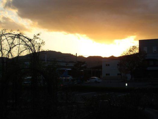 国道9号から見る夕焼け