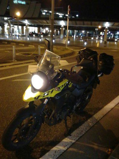 福知山駅前に到着